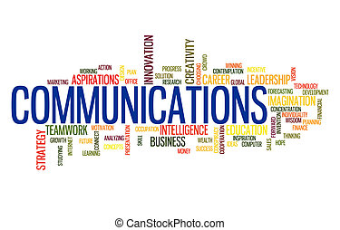 Communication business word cloud - Tele Communication...
