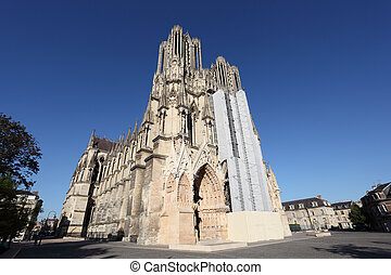 Reims Cathedral in Champagne region, France