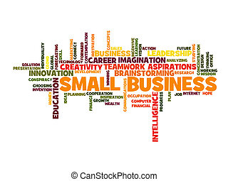 small business concept word cloud
