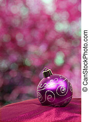 Festive Purple Bauble with Great Background - A nice purple...
