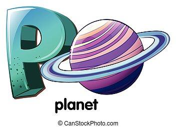 planeta,  P, letra