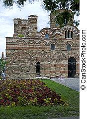 Nesebar - castle ruins in old Nesebar Bulgaria