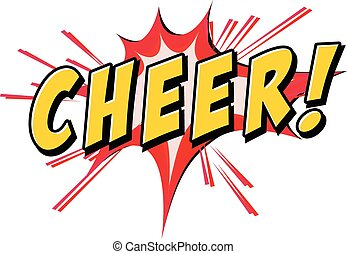 Cheer icon - Cheers flash icon on white background