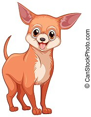 Chihuahua dog illustration on white