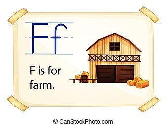 Farm flashcard