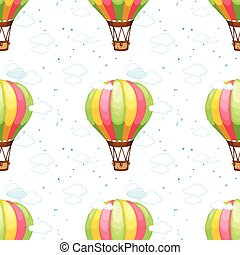 Seamless balloons - A seamless pattern with hot air balloons...