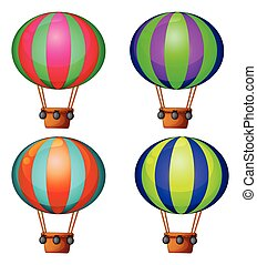 Balloons - Set of 4 hot air balloons
