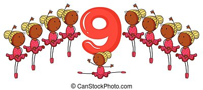 The number 9