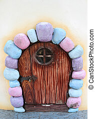 wood door in fairy tale