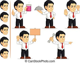 Office Worker Customizable Mascot 8