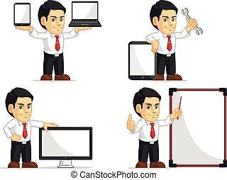 Office Worker Customizable Mascot14