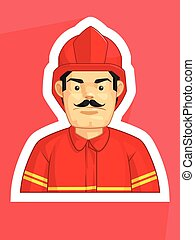 Profession - Fire Fighter - A vector image of fire fighter....