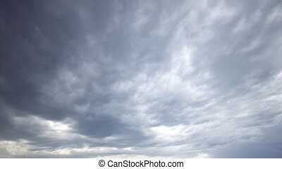 Storm clouds: Wild sky timelapse - Storm clouds pass by....