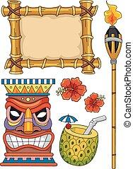 Hawaiian Tiki Elements - Hawaiian Tiki Design Elements