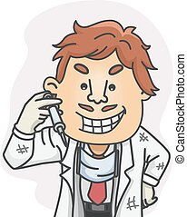 Quack Doctor - Illustration Featuring a Quack Doctor Holding...