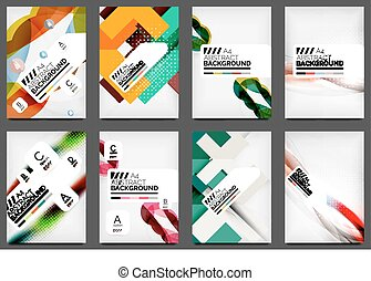 Set of Flyer Templates, Business Web Layouts, modern...