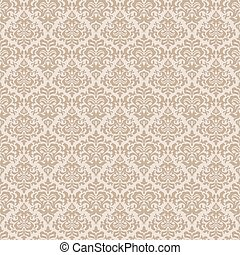 Beige wallpaper pattern - Stylish abstract beige floral...