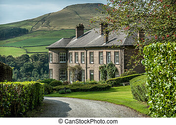 Peak District Mansion - Crag Hall in the village of...