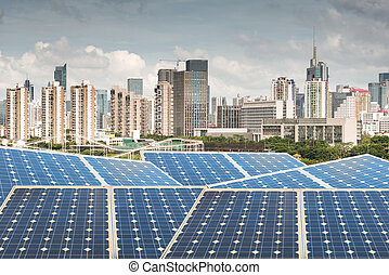 Hong Kong,Ecological energy renewable solar panel plant