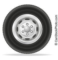 wheel for truck tracktor and van vector illustration...