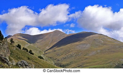 Beautiful mountain peaks in Spain (