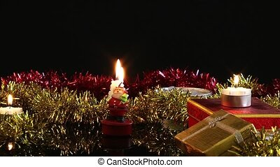 New Year Candles and Gift Box