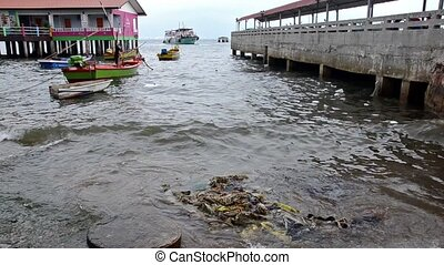 thailand, sea pollution - post-tsunami. Pollution.