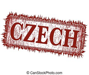 czech grunge stamp with on vector illustration