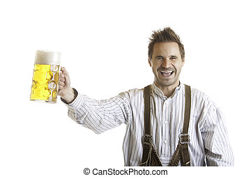 Toast with Oktoberfest beer stein (Mass) - Bavarian Man...
