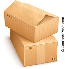Cardboard boxes for mail delivery. Eps10 vector...