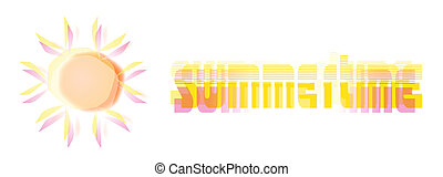 summertime - glowing sunshine and summertime text...