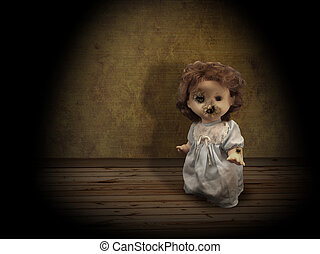 Dark series - vintage spooky doll - Dark series - vintage...