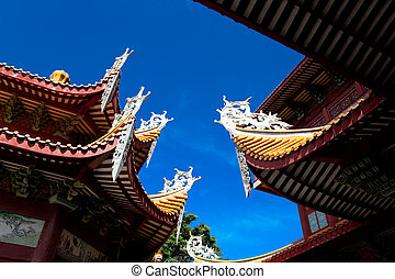 Chinese eaves of temple