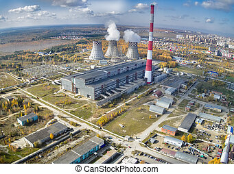 Combined heat and power factory Tyumen Russia - Tyumen,...