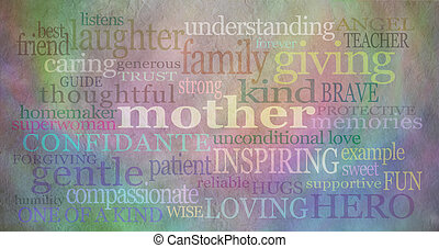 Mother's day background banner - Background with rustic...