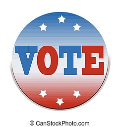 vote grunge stamp with on vector illustration