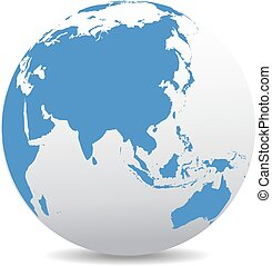 China and Asia, Global World - World Globe