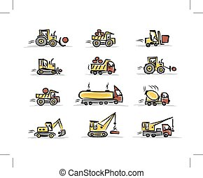 Set of construction equipment for your design, vector...