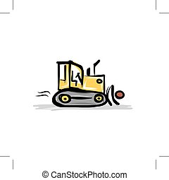 Caterpillar tractor, construction equipment for your design,...