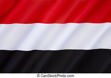 Flag of Yemen - adopted on 22nd May 1990, the day that North...