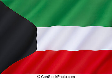 Flag of Kuwait - The civil and state flag and national...
