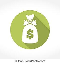 Money Bag Icon - Money bag icon, flat design, vector eps10...