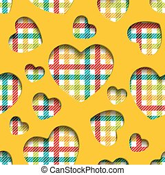 Seamless hearts checkered - Seamless texture, application of...