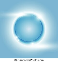 Design blue glow circle vector abstract background