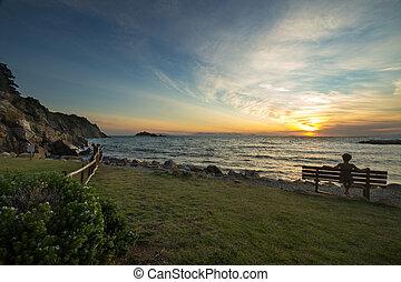 Sunset at Punta Ala, Tuscany