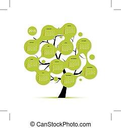 Calendar tree 2015 for your design