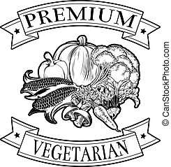 Premium vegetarian icon - Premium vegetarian menu icon of...