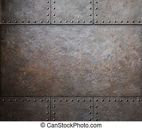 rust steel metal texture with rivets as steam punk...