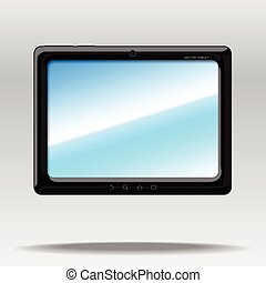 tablet PC - vector isolated tablet PC mockup with blank...