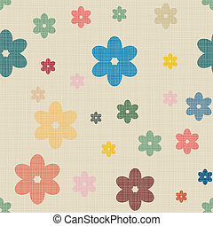 Seamless background of textile with hearts - Seamless...